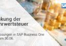 Mehrwertsteuersenkung SAP Business One